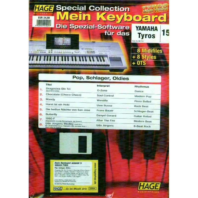 Hage Midifiles Special Collection Mein Keyboard für YAMAHA Tyros 15