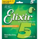 Elixir Nanoweb Super Light B 125 Electric Bass Strings 15425