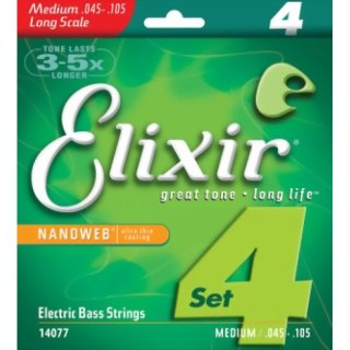 Elixir Nanoweb Medium 45 - 105 Electric Bass Strings 14077