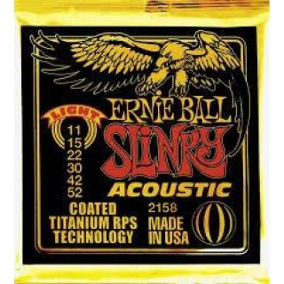 Ernie Ball EB 2158 Slinky Acoustic Coated Titanium Bronze