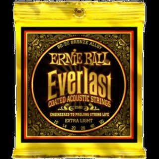 Ernie Ball EB 2560 Everlast Coated 80/20 Bronze Acoustic Extra Light