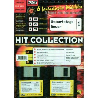 Hage Midifiles Hit Collection Geburtstagslieder 1