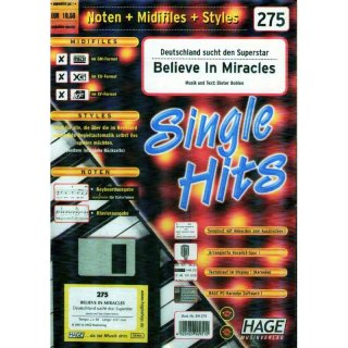 Hage Midifiles Noten Styles Deutschland sucht den Superstar Believe In Miracles