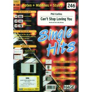 Hage Midifiles Noten Styles Phil Collins Cant Stop Loving You