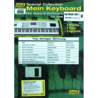 Hage Midifiles Special Collection Mein Keyboard für KETRON SD1 XD9/XD3 8