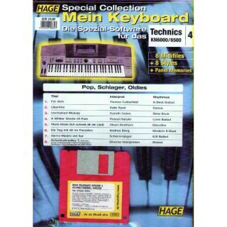Hage Midifiles Special Collection Mein Keyboard für Technics KN6000/6500 4
