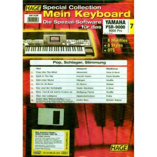 Hage Midifiles Special Collection Mein Keyboard für YAMAHA PSR-9000 9000 Pro 7