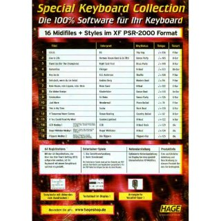 Hage Midifiles Special Keyboard Collection Ausgabe 4 für YAMAHA PSR-2000