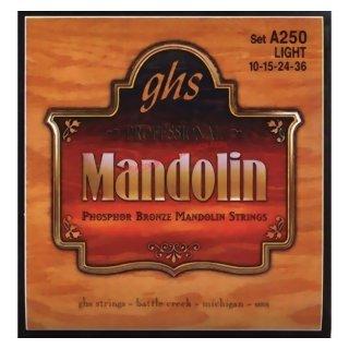 GHS A 250 Light Mandolin Strings 10-36