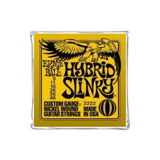 Ernie Ball EB 2222 Hybrid Slinky Gitarrensaiten 009-046 5-er Packung