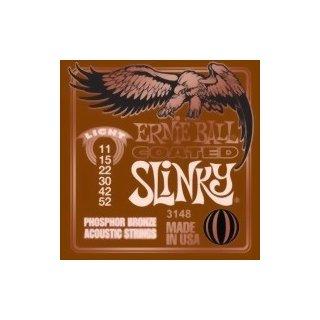 Ernie Ball EB 3148 Slinky Acoustic Coated Titanium Phosphor Bronze