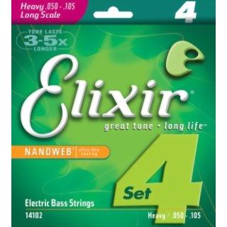 Elixir Nanoweb Heavy 50 - 105 Electric Bass Strings 14102