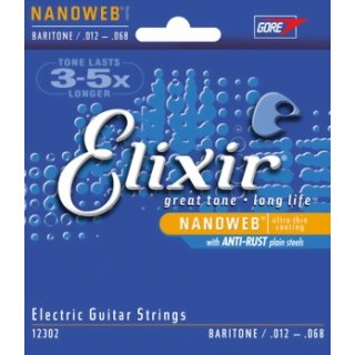 Elixir Nanoweb Baritone 12 - 68 Electric Guitar Strings 12302