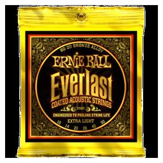 Ernie Ball EB 2560 Everlast Coated 80/20 Bronze Acoustic Extra Light