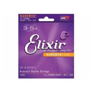 Elixir 12 String Light 10 - 47 Acoustic Guitar Strings 11162