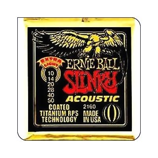 Ernie Ball EB 2160 Slinky Acoustic Coated Titanium Bronze