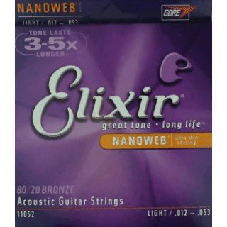 Elixir Light Bronze 12 - 53 Acoustic Guitar Strings 11052
