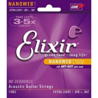 Elixir 11002 Nanoweb Extra light/.010-.047