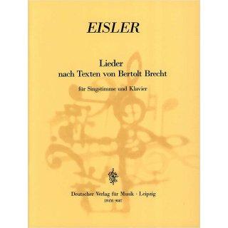 Deutschen Verlag für Musik Lieder nach Texten von Bertolt Brecht