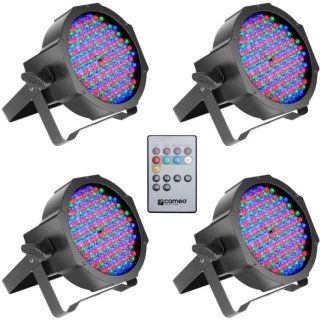 Cameo FLAT PAR CAN RGB 10 SET - Set aus 4 PAR Scheinwerfer