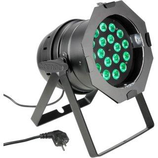 Cameo PAR 64 CAN - 18 x 8W QUAD Colour LED RGBW PAR Scheinwerfer BK