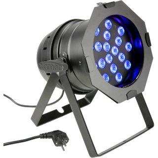 Cameo PAR 64 CAN - 18 x 3 W TRI Colour LED RGB PAR Scheinwerfer BK