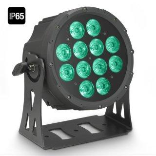Cameo FLAT PRO 12 IP65 - 12 x 10 W FLAT LED RGBWA PAR Scheinwerfer BK