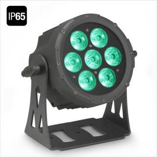 Cameo FLAT PRO 7 IP65 - 7 x 10 W FLAT LED RGBWA PAR Scheinwerfer BK