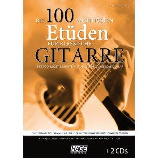 Hage die 100 wichtigsten Etüden für Gitarre